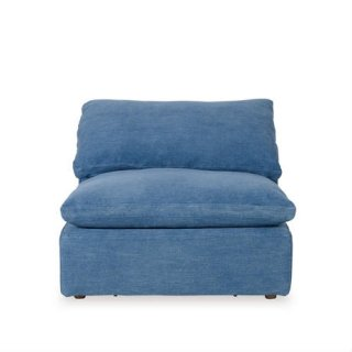 【NOBLE SOULS 】LUSCIOUS ARMLESS SOFA OLD LOOM OCEAN