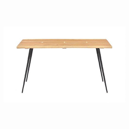 【SQUARE ROOTS】NEXA DINING TABLE1400 /RAW OAK BK LEG