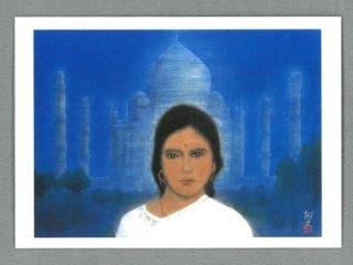 [絵はがき]タジマハール_インド(女性)