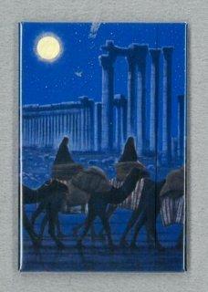 [アートマグネット]パルミラ遺跡を行く(夜)縦