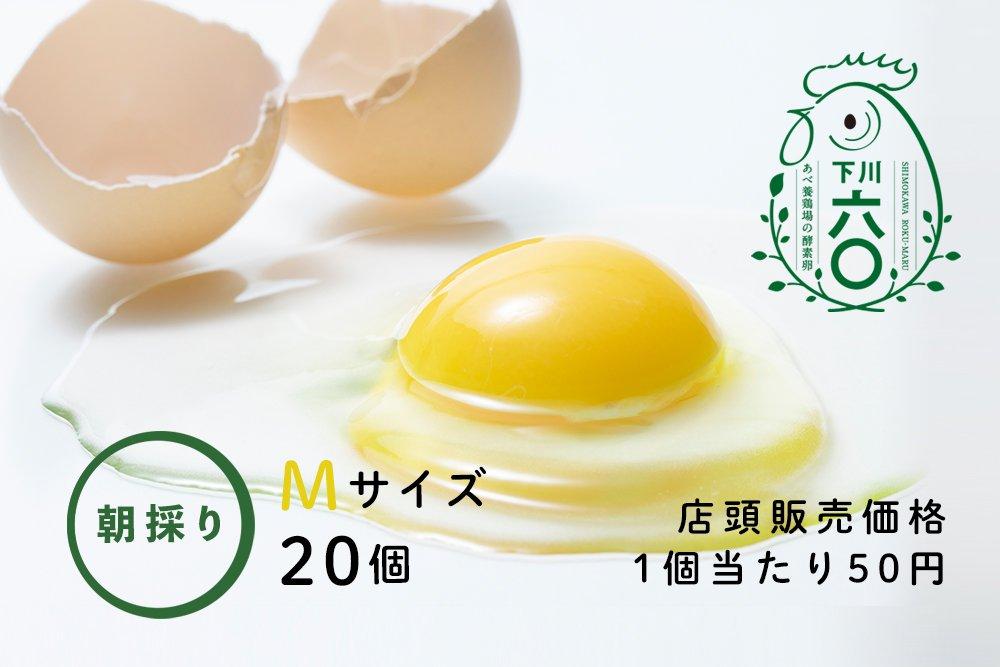 下川六〇酵素卵 Mサイズ 20個