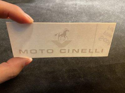 MOTO CINELLI タンクデカール(1998フォガテー996Factory)