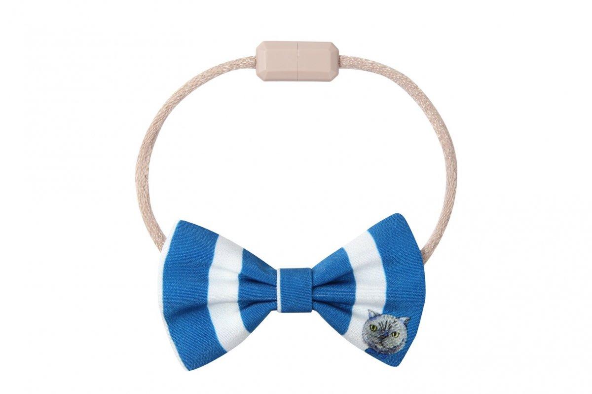 猫用ネックレス(ストライプ_Blue)
