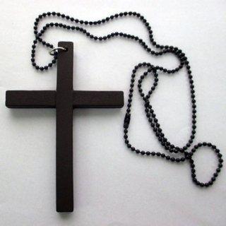 【在庫限り】木製の十字架ネックレス