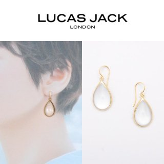 <img class='new_mark_img1' src='https://img.shop-pro.jp/img/new/icons20.gif' style='border:none;display:inline;margin:0px;padding:0px;width:auto;' />【30%OFF】LUCAS JACK(ルーカスジャック) ドロップ ピアス クリア