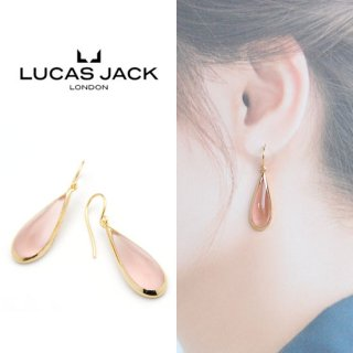 <img class='new_mark_img1' src='https://img.shop-pro.jp/img/new/icons20.gif' style='border:none;display:inline;margin:0px;padding:0px;width:auto;' />【30%OFF】LUCAS JACK(ルーカスジャック) ティアドロップ ピアス ピンク