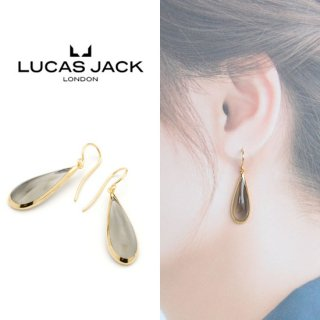 <img class='new_mark_img1' src='https://img.shop-pro.jp/img/new/icons20.gif' style='border:none;display:inline;margin:0px;padding:0px;width:auto;' />【40%OFF】LUCAS JACK(ルーカスジャック) ティアドロップ ピアス スモーキー