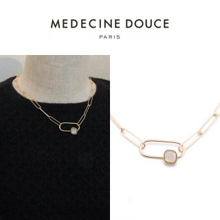 <img class='new_mark_img1' src='https://img.shop-pro.jp/img/new/icons20.gif' style='border:none;display:inline;margin:0px;padding:0px;width:auto;' />【40%OFF】MEDECINE DOUCE(メディスンドゥース) FIRENZE ゴールド ネックレス スモーク
