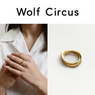 <img class='new_mark_img1' src='https://img.shop-pro.jp/img/new/icons20.gif' style='border:none;display:inline;margin:0px;padding:0px;width:auto;' />【40%OFF】Wolf Circus(ウルフサーカス) セリーヌ ゴールド 2連リング