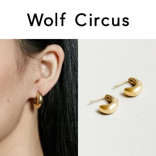 <img class='new_mark_img1' src='https://img.shop-pro.jp/img/new/icons47.gif' style='border:none;display:inline;margin:0px;padding:0px;width:auto;' />Wolf Circus(ウルフサーカス) ゴールド Nova フープ ピアス