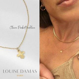 <img class='new_mark_img1' src='https://img.shop-pro.jp/img/new/icons59.gif' style='border:none;display:inline;margin:0px;padding:0px;width:auto;' />【20%OFF】LOUISE DAMAS(ルイーズダマス) ゴールド Claire クロス ペンダント ネックレス