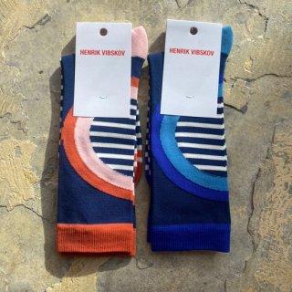 HENRIK VIBSKOV Stripe circle socks