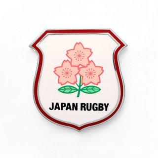 ラグビー日本代表 ピンバッジ 盾「JAPAN RUGBY」シルバー