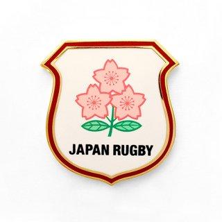 ラグビー日本代表 ピンバッジ 盾「JAPAN RUGBY」ゴールド