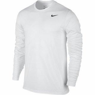 ナイキ NIKE Dri-FIT レジェンド Tシャツ ホワイト/ブラック/ブラック 長袖Tシャツ