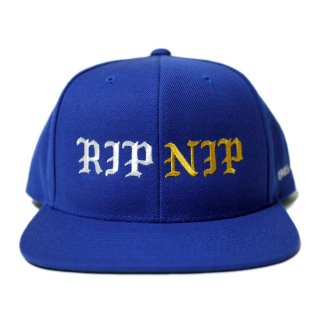 RIP NIP SNAPBACK CAP【BLUE】