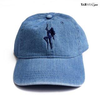 【メール便対応】YAHWEHS EYES STRAP BACK CAP【DENIM】【BIG POLE】