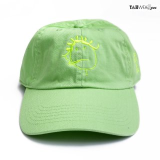 【メール便対応】YAHWEHS EYES STRAP BACK CAP【LIME】【RIRI】