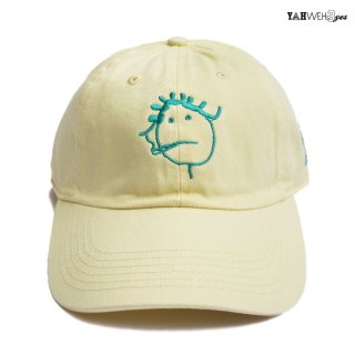 【メール便対応】YAHWEHS EYES STRAP BACK CAP【LIGHT YELLOW】【RIRI】