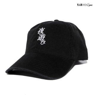 【メール便対応】YAHWEHS EYES STRAP BACK CAP【BLACK】【夜遊び】