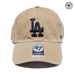 【メール便対応】'47 CLEAN UP CAP LOS ANGELES DODGERS【KHAKI】