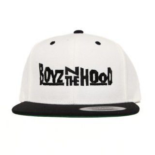 BOYZ N THE HOOD SNAPBACK CAP【WHITE×BLACK】