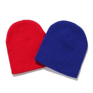 【メール便対応】PLAIN BEANIE SHORT【ROYAL BLUE/RED】
