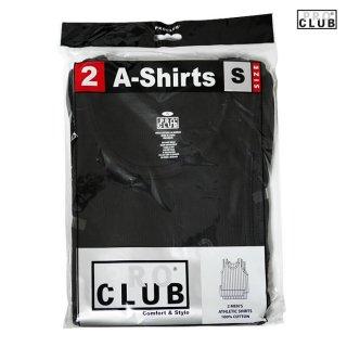 【2枚セット】PRO CLUB A-SHIRTS【BLACK】【1 PACK 2PIECES】