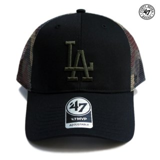<img class='new_mark_img1' src='https://img.shop-pro.jp/img/new/icons59.gif' style='border:none;display:inline;margin:0px;padding:0px;width:auto;' />47 BRAND MVP MESH CAP LOS ANGELES DODGERS【BLACK×CAMO】