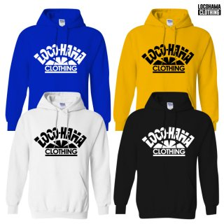 【受注アイテム】【送料無料】LOCOHAMA CLOTHING HOODIE【WHITE/BLACK/BLUE/YELLOW】