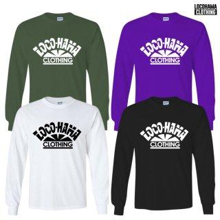 【受注アイテム】【メール便対応】LOCOHAMA CLOTHING L/S T-SHIRTS【WHITE/BLACK/OLIVE/PURPLE】