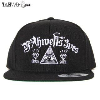 YAHWEHS EYES SNAP BACK CAP【BLACK】【OG】