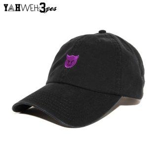 【メール便対応】YAHWEHS EYES STRAP BACK CAP【BLACK】【DEVIL】