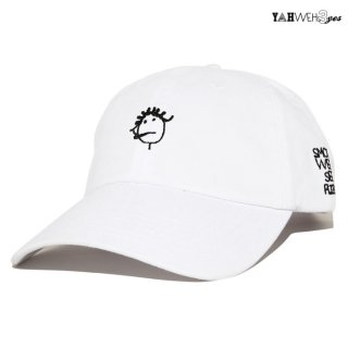 【メール便対応】YAHWEHS EYES STRAP BACK CAP【WHITE】【RIRI】