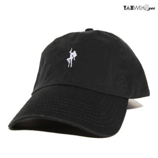 【メール便対応】YAHWEHS EYES STRAP BACK CAP【BLACK】【POLE】