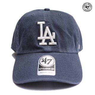 【メール便対応】'47 CLEAN UP CAP LOS ANGELES DODGERS【VINTAGE NAVY】