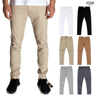 【ランキング入賞】KDNK TWILL SKINNY PANTS【BLACK/WHITE/KHAKI/WHEAT/LIGHT GRAY/CHARCOAL GRAY】