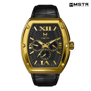 MSTR WATCHES MAJOR【GOLD / BLACK / CROC STYLE BAND】【MJ116CB】