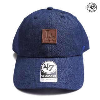 【メール便対応】47 BRAND CLEAN UP CAP LOS ANGELES DODGERS【DENIM】
