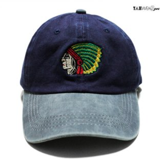 【メール便対応】YAHWEHS EYES STRAP BACK CAP【NAVY】
