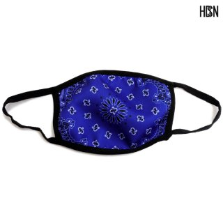【メール便対応】HUDSONOUTERWEAR SOLID PAISLEY FACE MASK【ROYAL BLUE】
