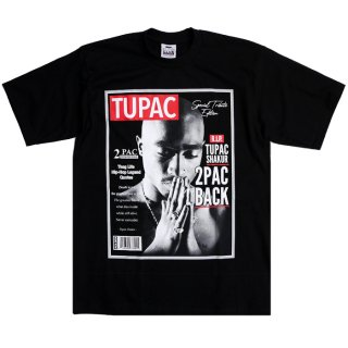 【メール便対応】2PAC PRINT T-SHIRTS【BLACK】