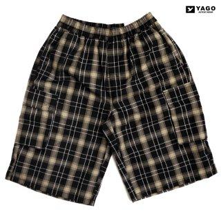 YAGO CHECK CARGO SHORTS【BLACK×BEIGE】