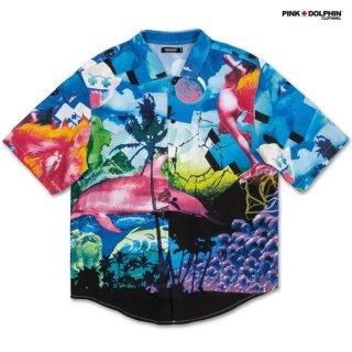【メール便対応】PINK DOLPHIN CLOTHING REALIZE OCEAN OPEN SHIRTS【MULTI COLOR】