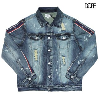 <img class='new_mark_img1' src='https://img.shop-pro.jp/img/new/icons20.gif' style='border:none;display:inline;margin:0px;padding:0px;width:auto;' />【SALE★30%OFF】DOPE STRIPE DENIM JACKET【WASH BLUE】