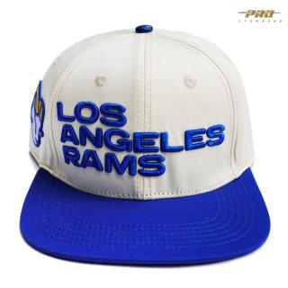 PRO STANDARD LOS ANGELES RAMS STRAPBACK CAP【NATURAL×BLUE】