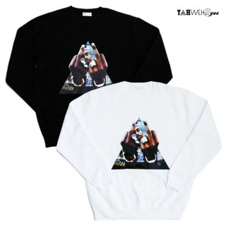 【SALE★50%OFF】【送料無料】YAHWEHS EYES CREWNECK SWEAT【WHITE/BLACK】<img class='new_mark_img2' src='https://img.shop-pro.jp/img/new/icons20.gif' style='border:none;display:inline;margin:0px;padding:0px;width:auto;' />