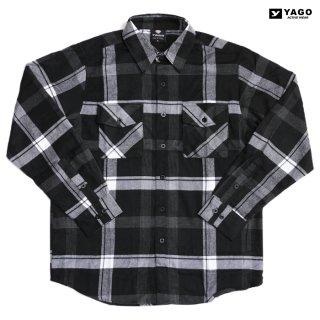YAGO FLANNEL SHIRTS【BLACK×WHITE】