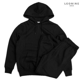 <img class='new_mark_img1' src='https://img.shop-pro.jp/img/new/icons20.gif' style='border:none;display:inline;margin:0px;padding:0px;width:auto;' />【SALE★40%OFF】LEONINE PULLOVER SWEAT SETUP【BLACK】