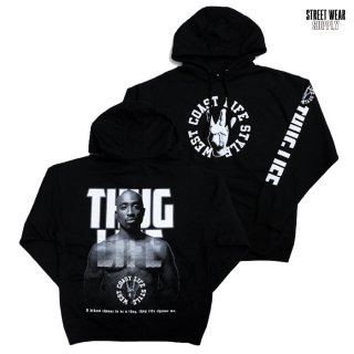 <img class='new_mark_img1' src='https://img.shop-pro.jp/img/new/icons20.gif' style='border:none;display:inline;margin:0px;padding:0px;width:auto;' />【SALE★50%OFF】STREETWEAR SUPPLY THUG LIFE HOODED SWEAT【BLACK】